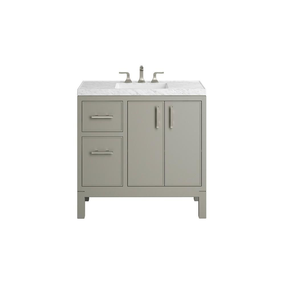 Kohler Rubicon 36 In Bath Vanity Single Basin Vanity Top In Mohair Grey With Wh Luxury Bathroom Vanities Bathroom Vanities For Sale Home Depot Bathroom Vanity
