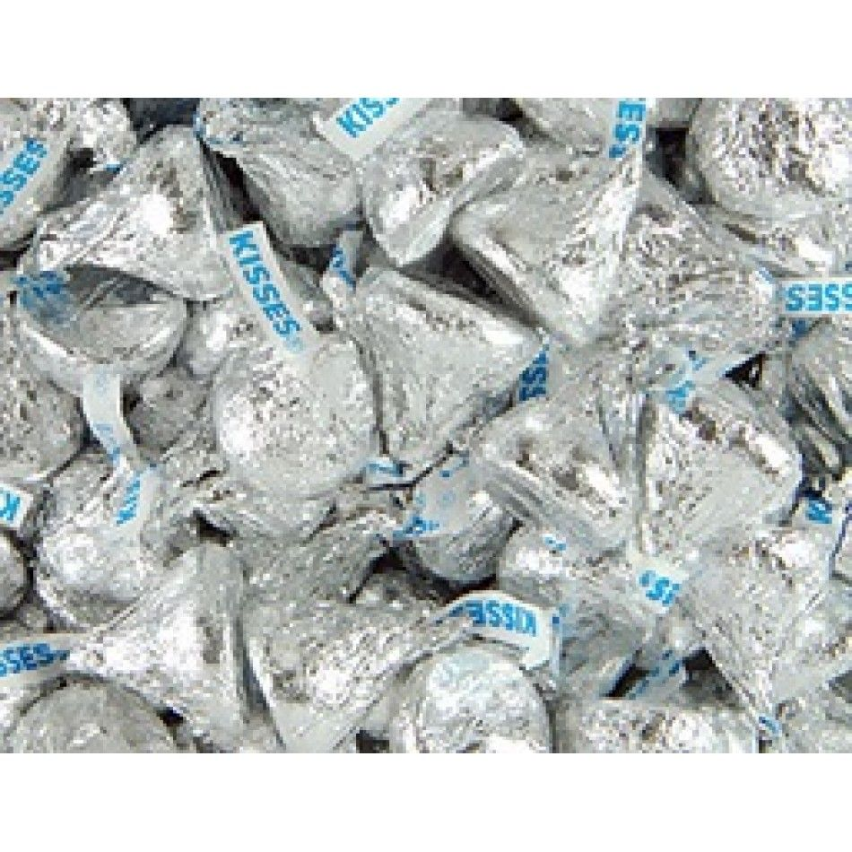Silver Hershey\'s Kisses Milk Chocolate [41-2000691 Hershey Kisses ...