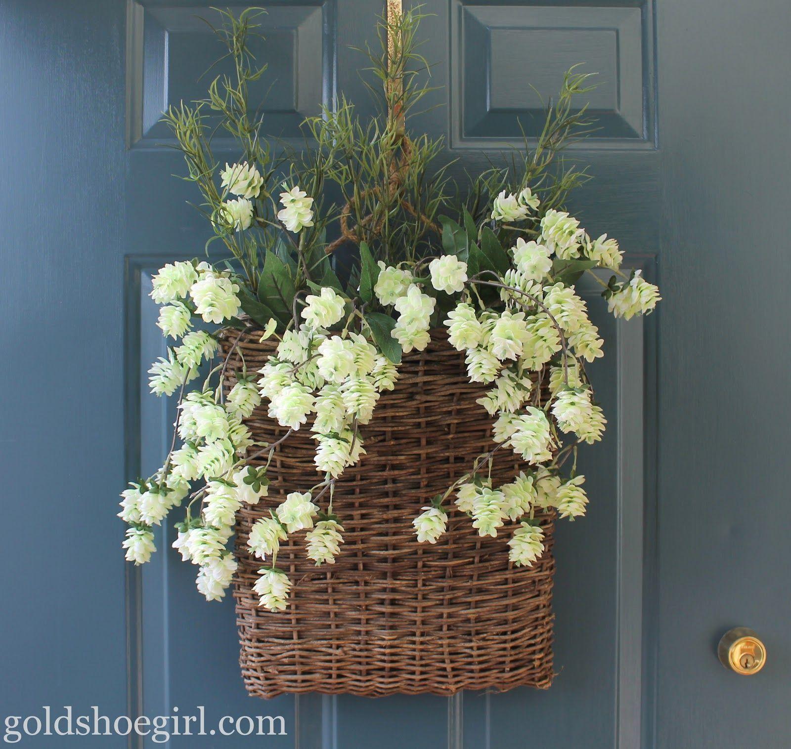 Flowers For Front Door: Goldshoegirl+front+door+flower+basket.jpg