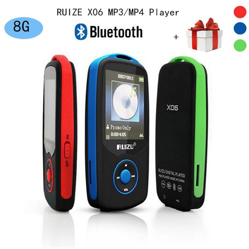 NEW Mp3 Music Player with FM Radio 100h.. RUIZU X06 Mp3 Player with Bluetooth
