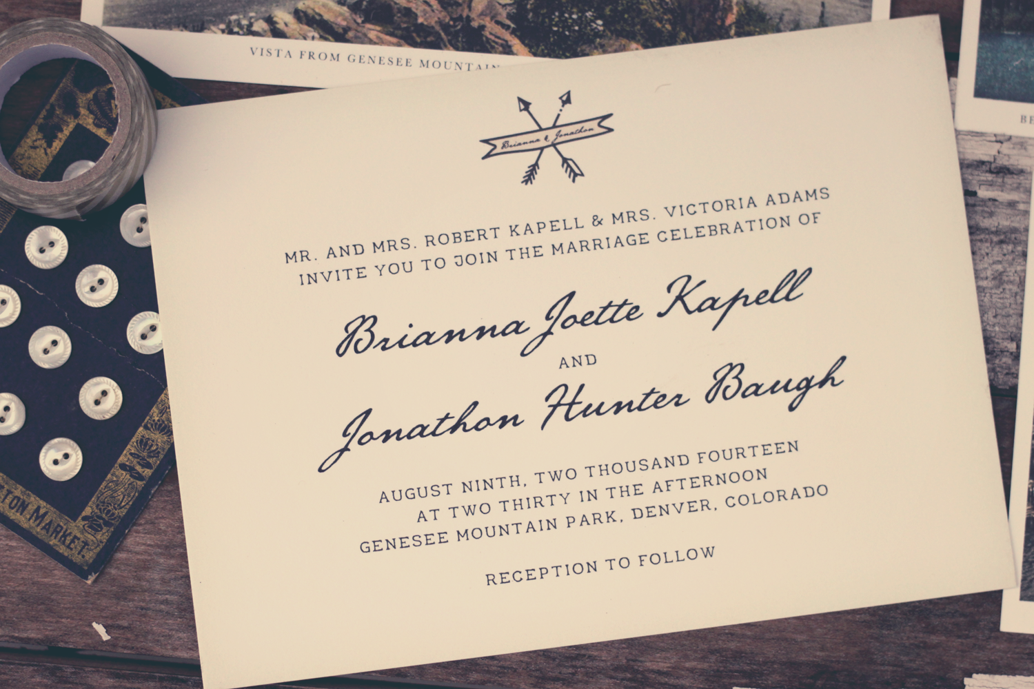 In the Shop: The Vintage Postcard Inspired Invitation Suite | Design ...