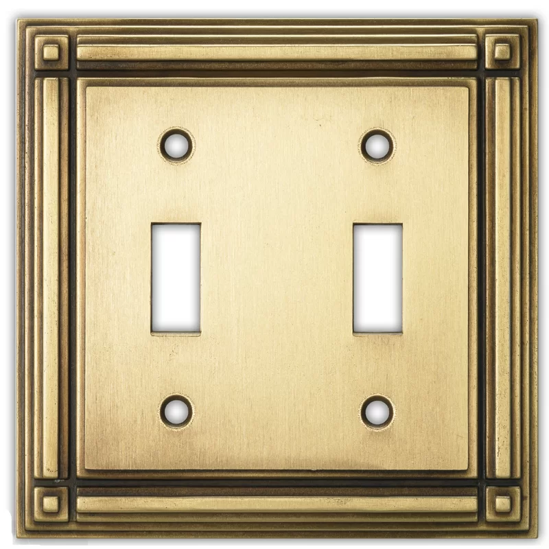 Evanston 2 Gang Toggle Light Switch Wall Plate In 2020 Plates On Wall Toggle Light Switch Vintage Light Switches