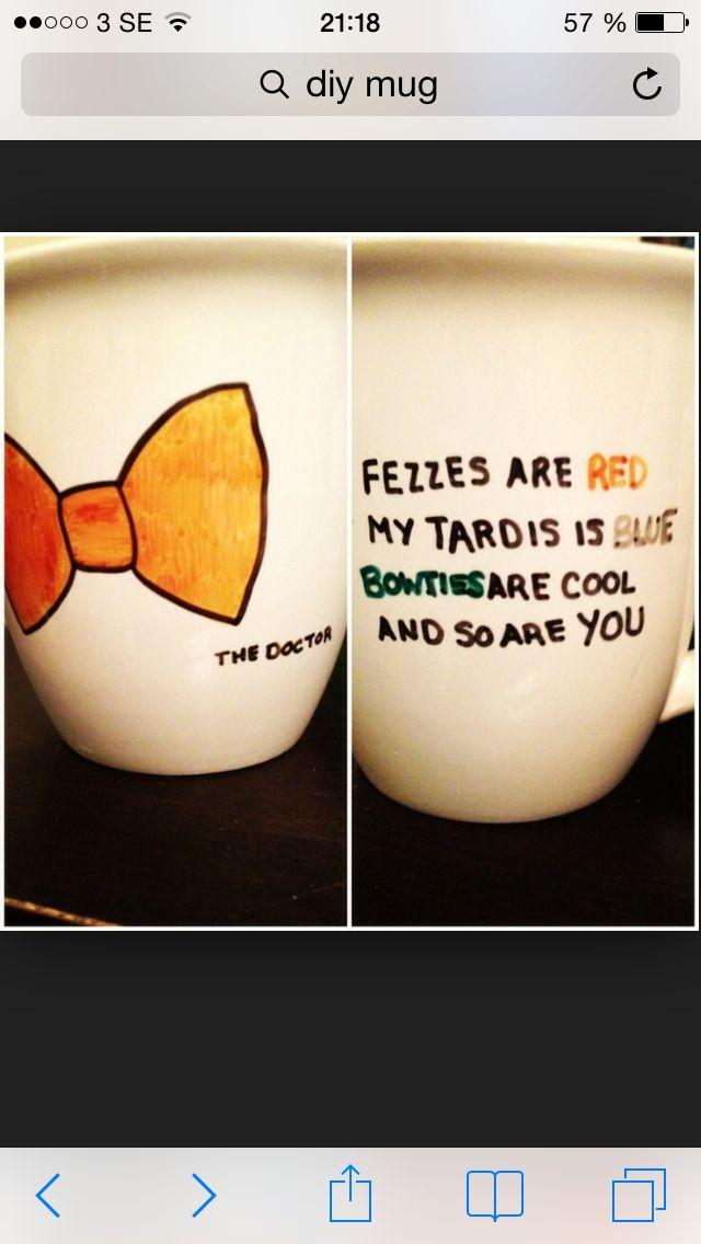 Doctor Who mug | Diy doctor, Diy gifts for friends, Diy mugs