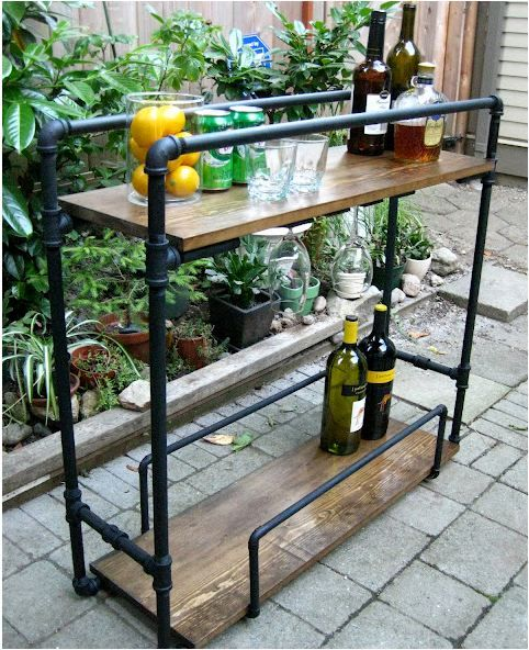 Rohr Regal Furniture Diy Outdoor Bar Diy Bar Cart Und Diy Bar
