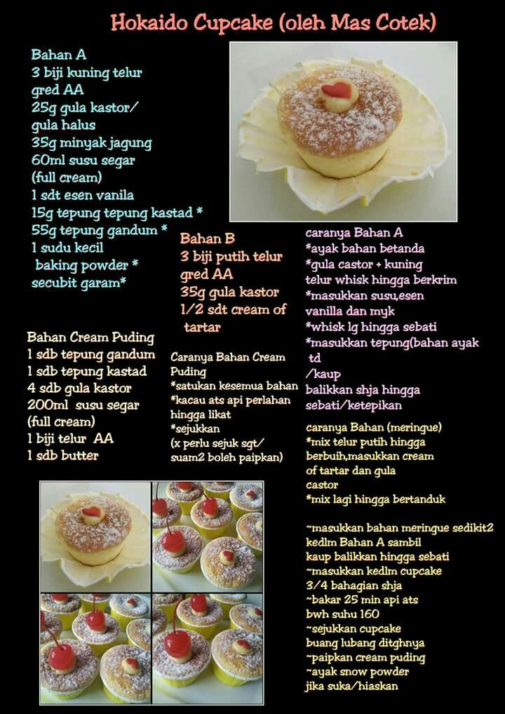 Hokkaido Cupcake Food And Drink Resep Cake Recipes