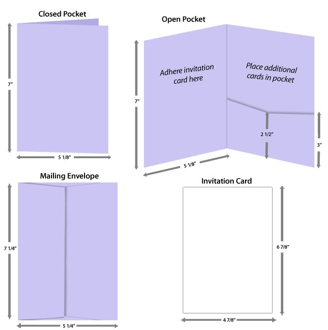 Quick Guide to Properly Sized Pocket Insert Cards \ Envelopes - index card template