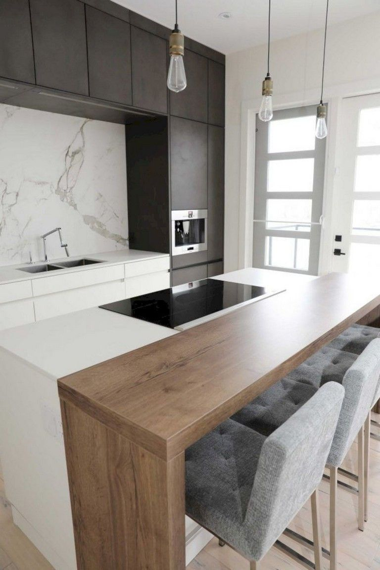 35 Remarkable Kitchen Design Ideas For Small Apartment Kitchens Kitche Minimalist Kitchen Design Kitchen Design Small Minimalist Interior Design Living Room