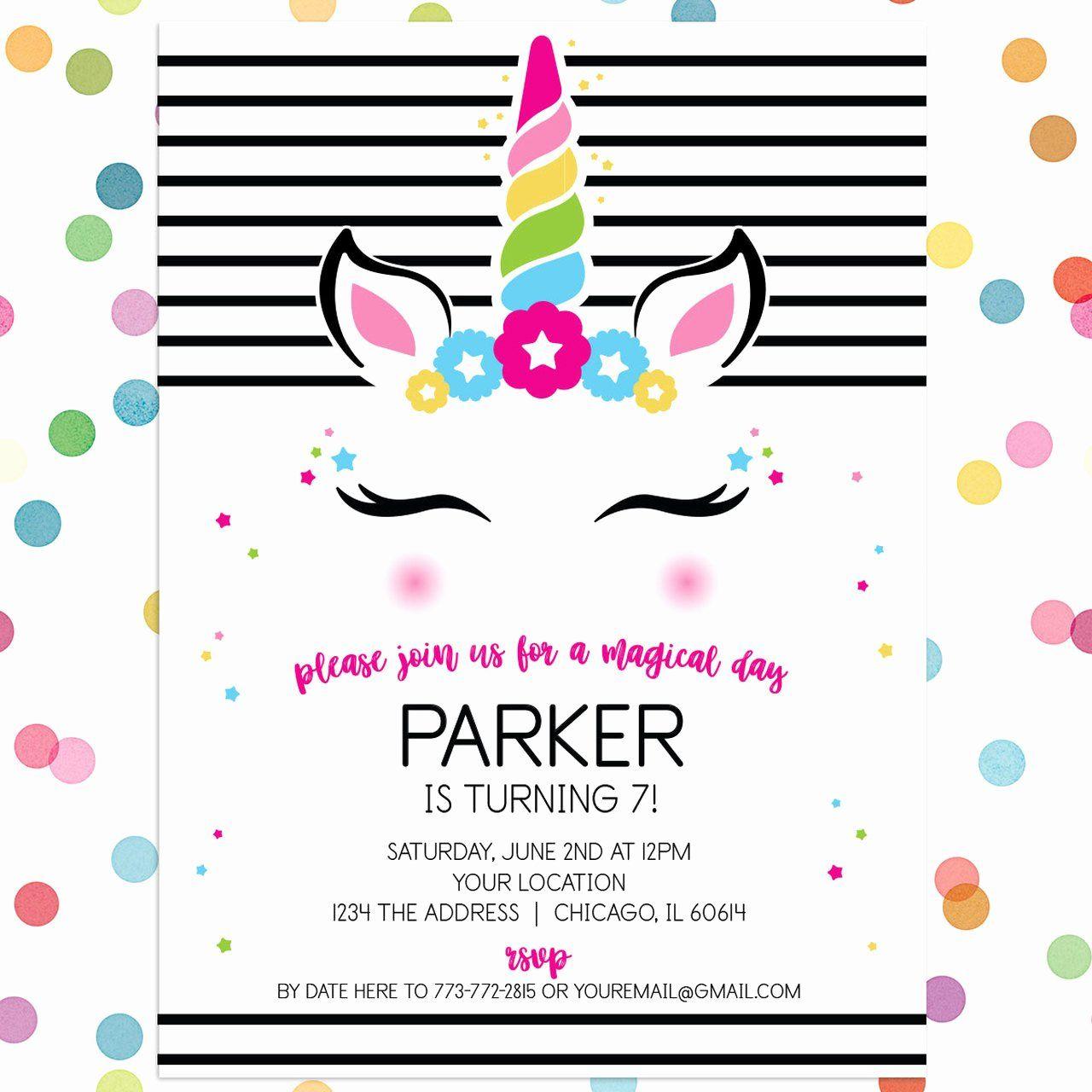 Open Office Birthday Invitation Template Unique Personalized Kids