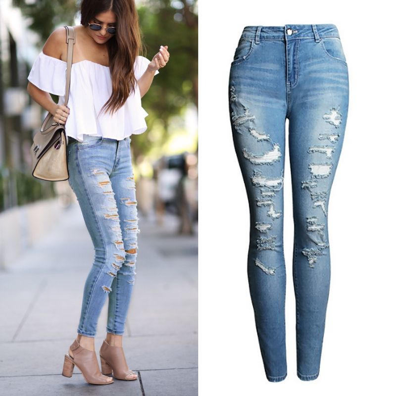 Cheap jean boxers, Buy Quality jeans belt for women directly from China jean  blouse Suppliers: catonATOZ 2074 New Women`s Distressed Mid High Waist Jeans  ...