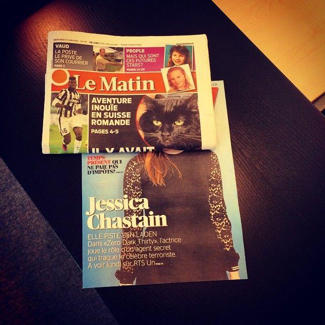 Jessica Catstain! #r2life #bookface #bookfacing #keera #lematin #guidetv (en Lausanne)