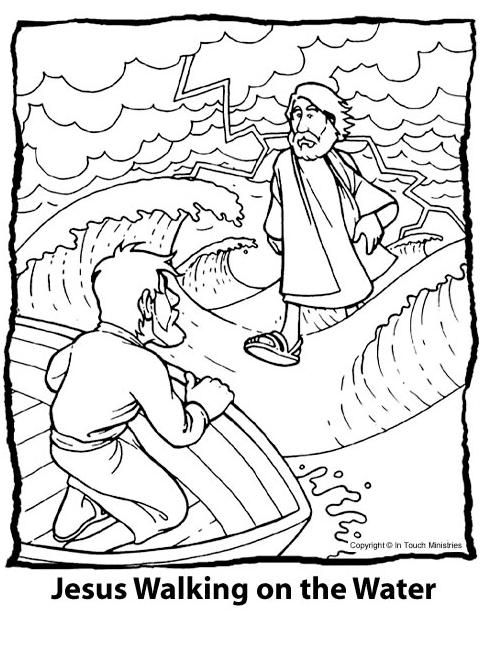 Jesus Miracles Coloring Pages | Fun Time
