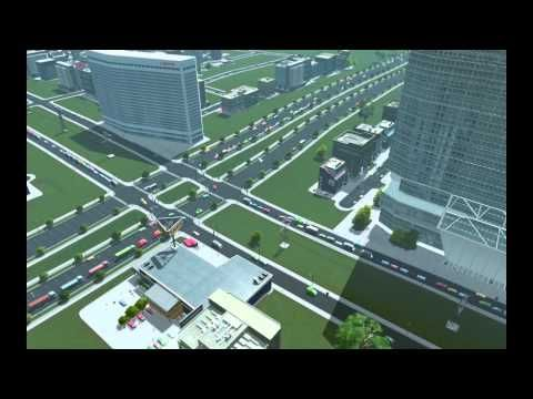 Cities Skylines Comparison Of Continuous Flow Intersection To A 4 Way Autobahnen
