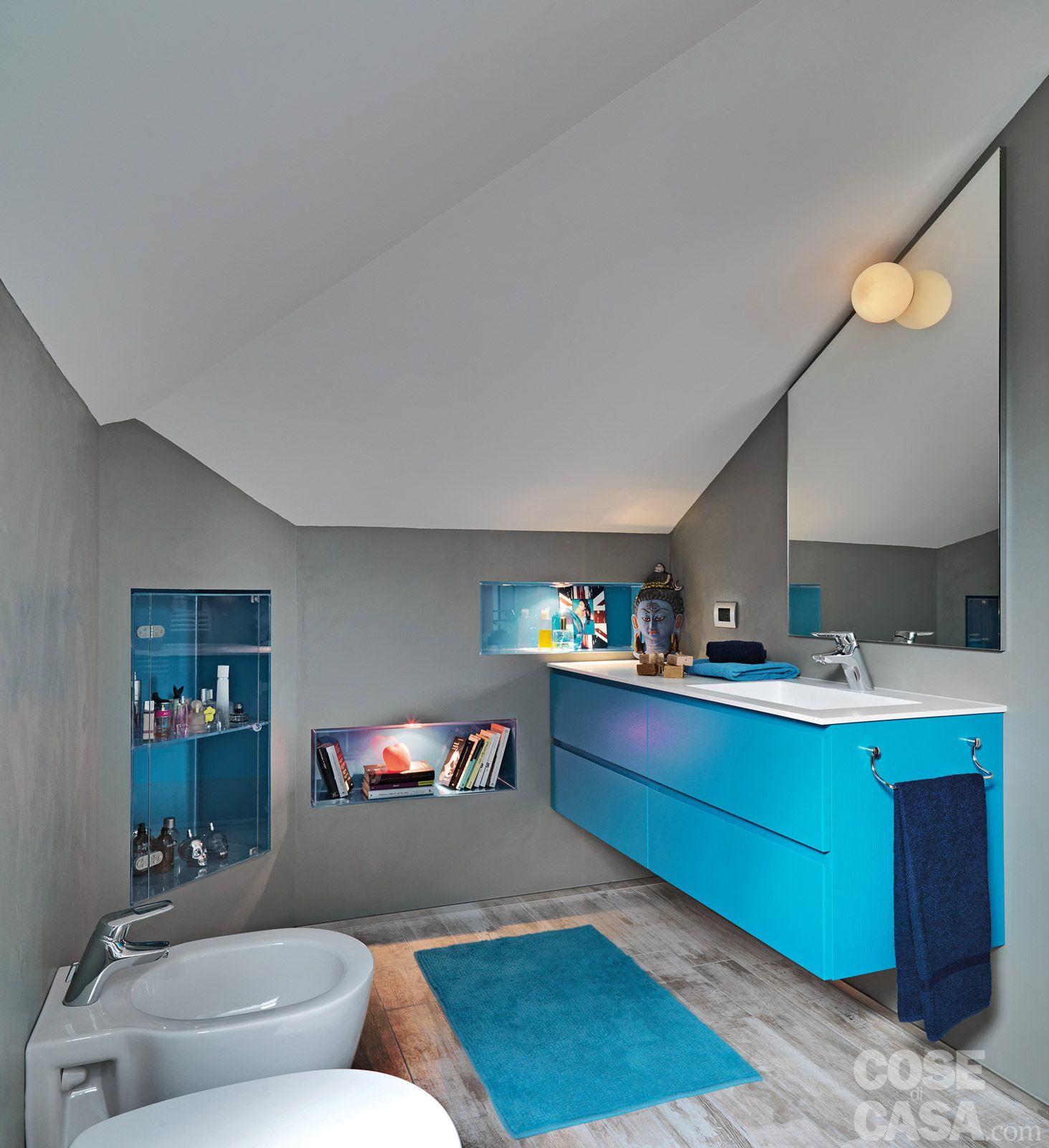 Trilocale di 96 mq recupero creativo per la mansarda home bathroom interior bathroom - Bagni bellissimi moderni ...