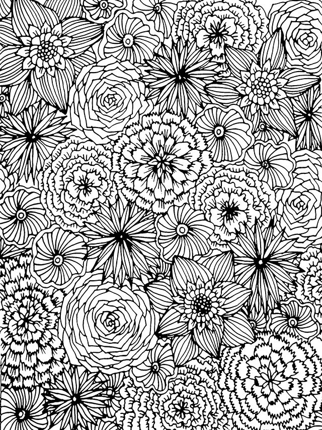 Free Giant Coloring Page Coloring Pages Flower Coloring Pages