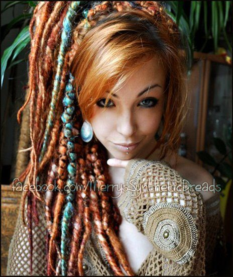 Gorgeous hair colour and dreads! but her eye brows scare me a bit ...