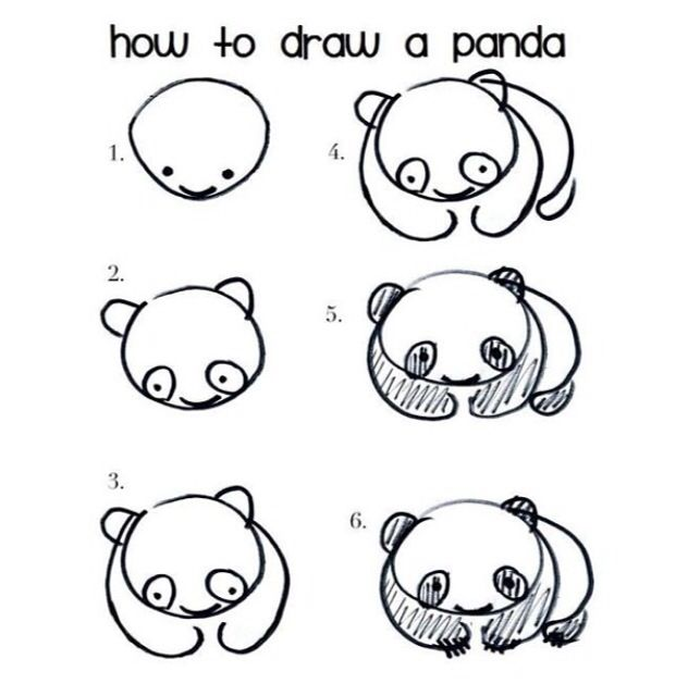 Populaire A quick and easy doodle of a cuddly panda. | Lu | Pinterest | Easy  UR08