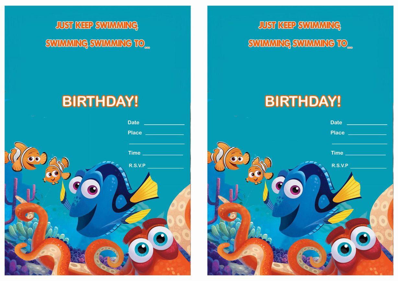 Finding Dory Birthday Invitations   Birthday Party Invitations ...