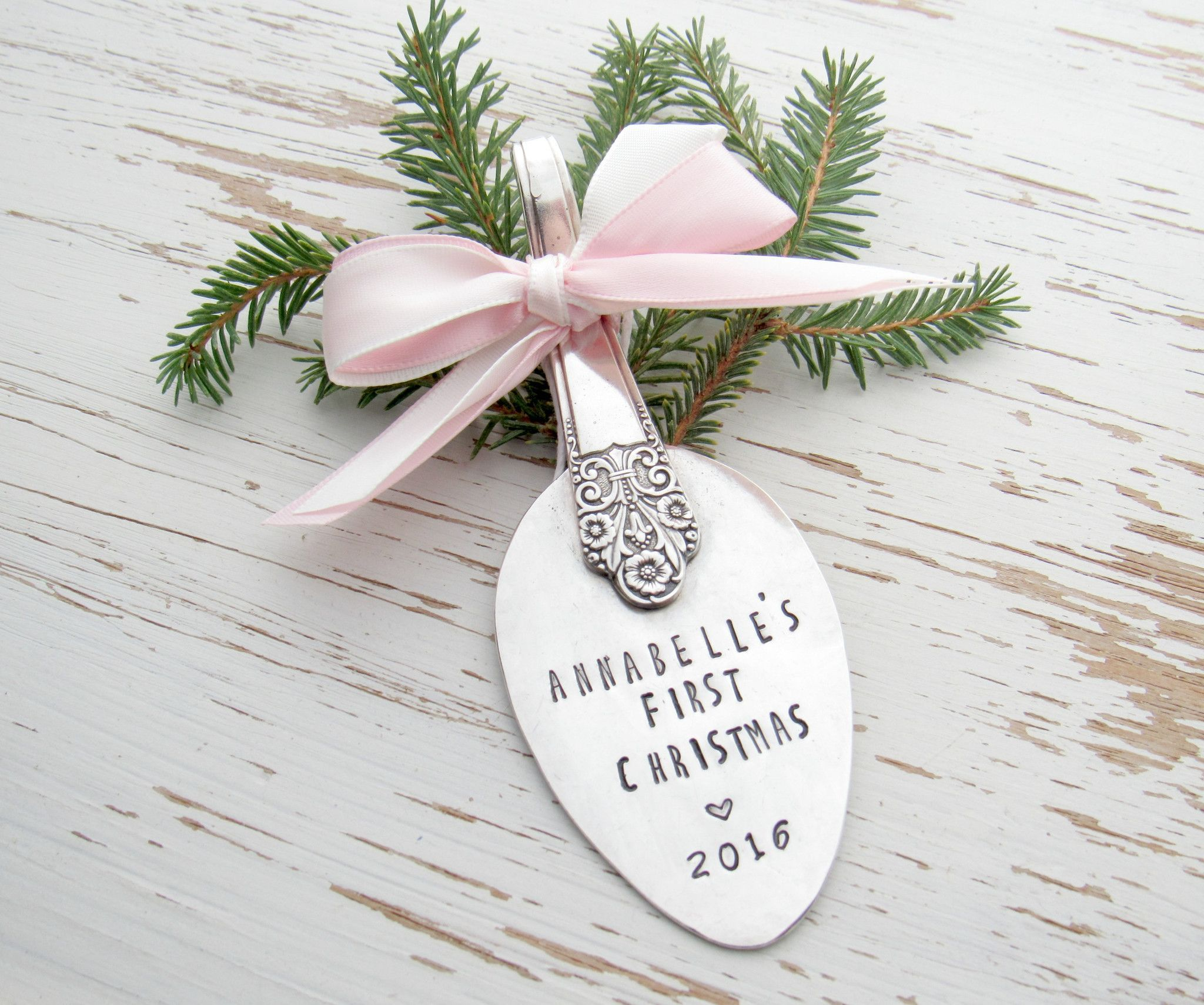 First Christmas 2016 spoon ornament - new baby - 1st christmas ...