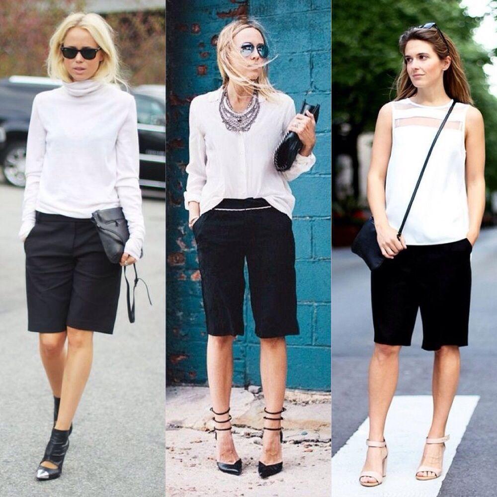 Bermuda Shorts Outfits Women Google Search Shorts Outfits Women Short Outfits Black Shorts Outfit [ 1000 x 1000 Pixel ]