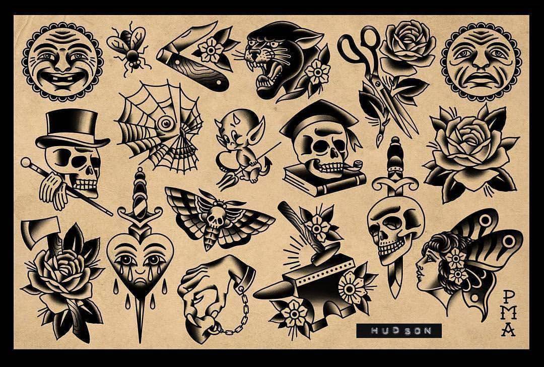 Flash By Hudsontattoo Traditional Traditionalflash Flashtattoo Tradition Old School Tattoo Designs Traditional Tattoo Tattoo Old School Black