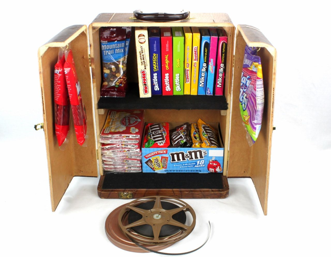 Vintage Popcorn and Candy Storage Cabinet - Home Theater Decor ...