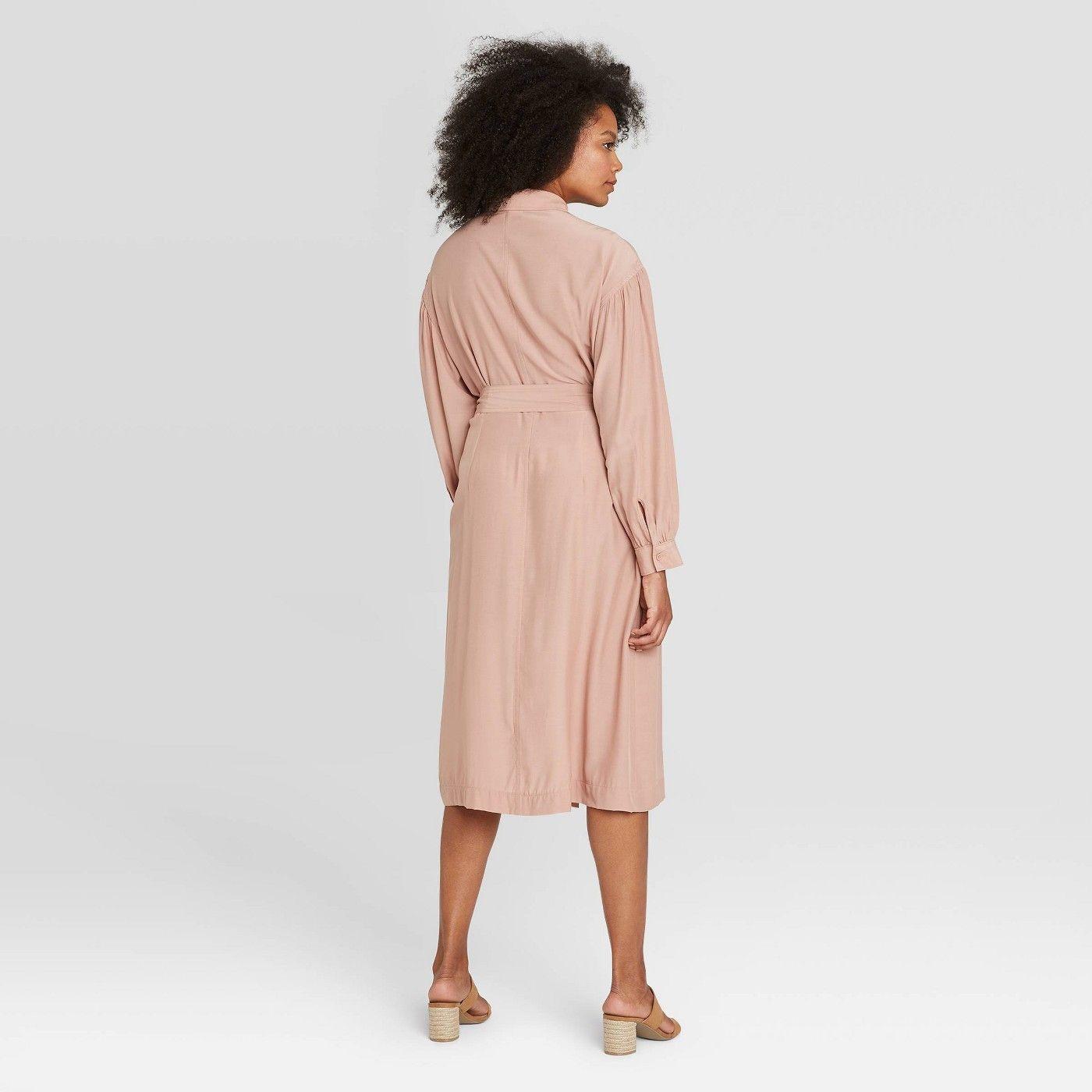 Women S Long Sleeve Drapey Button Dress Prologue Sponsored Sleeve Paid Long Women Women Long Sleeve Womens Tank Dress Button Dress [ 1400 x 1400 Pixel ]