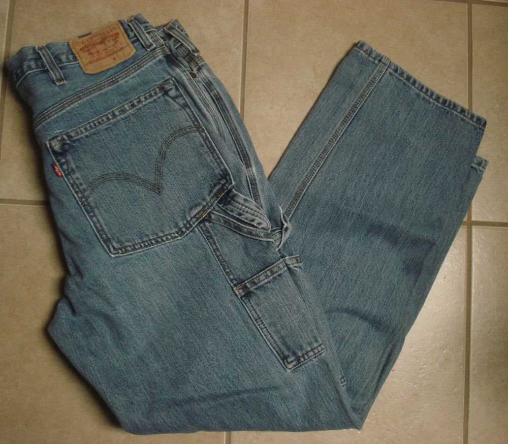 Levis 550 Relaxed Fit Utility Carpenter Jeans Heavy Denim 38 X