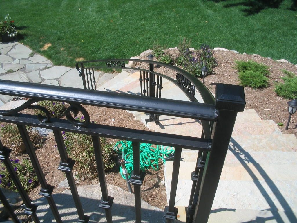 Iron Railing Designs |  Exterior Hand Railings Exterior Railing Stair