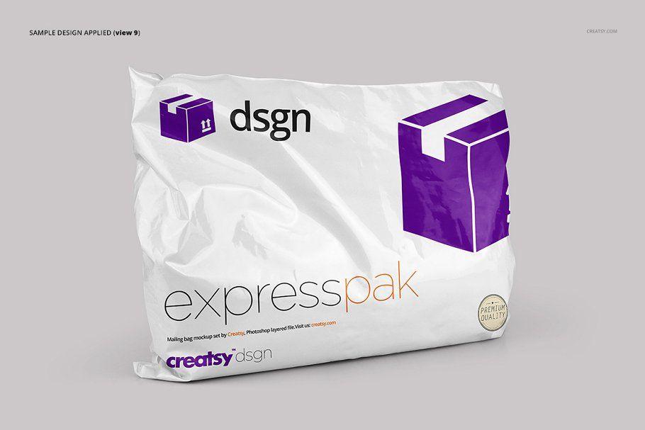 Download Mailing Bag 2 Mockup Set Creative Market Mockup Flyer Design