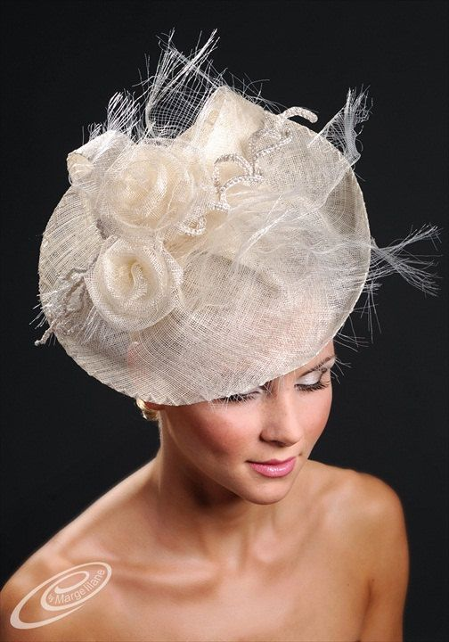 Elegant couture fascinator hat for Ascot, Derby, weddings ...