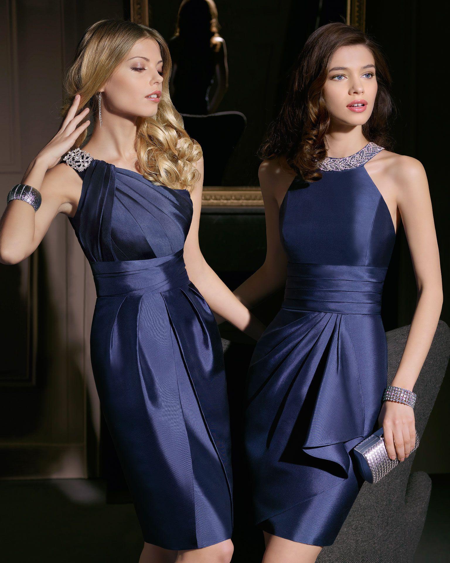 Vestidos cortos para fiesta de noche azules