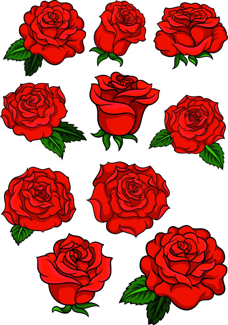 Red Rose Svg Rose Silhouette Rose Clipart Rose Svg Rose Vector In 2021 Rose Drawing Tattoo Red Rose Drawing Roses Drawing