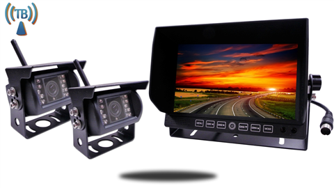 Digital Wireless Backup Camera System For 5th Wheel With 2 Cameras