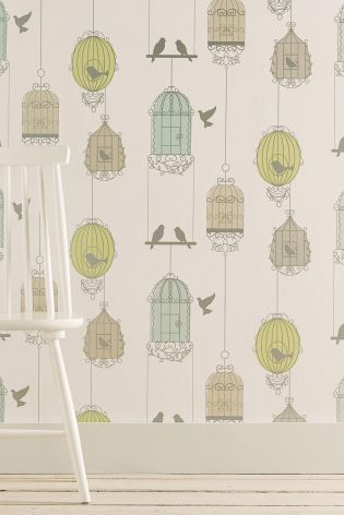 Buy Multi Birdcage Wallpaper From The Next Uk Online Shop Love But For Which Room Birdcage Wallpaper Wallpaper Childrens Room Striped Wallpaper