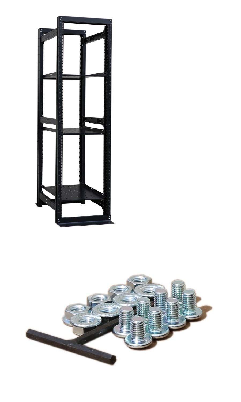 rackmount cabinets and frames 51199 42u 19 4 post open frame rh pinterest com