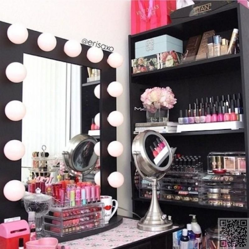 makeup vanity organization ideas.  Organized Beauty Find Your Fantasy Makeup Room Inspiration 2