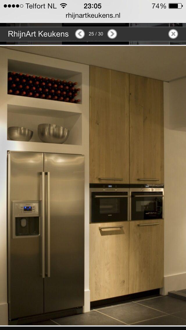 Ombouw Amerikaanse koelkast Huis tuin en keuken Pinterest - möbel boer küchen
