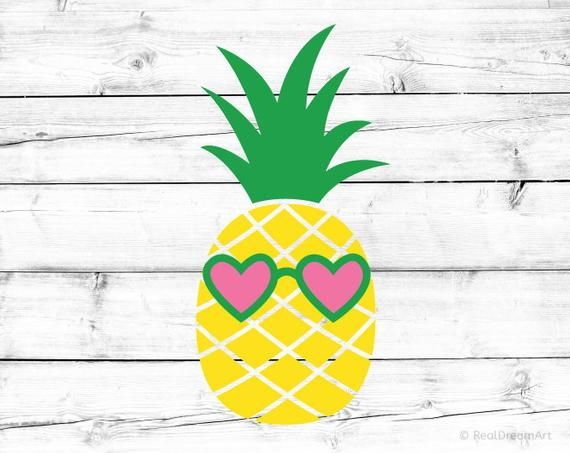 Download Pineapple with Glasses Svg Pineapple Svg for Cricut Heart ...