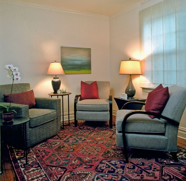Decorating Interesting Therapist Office With Sofa And Laminate Flooring And Carpet Tips To