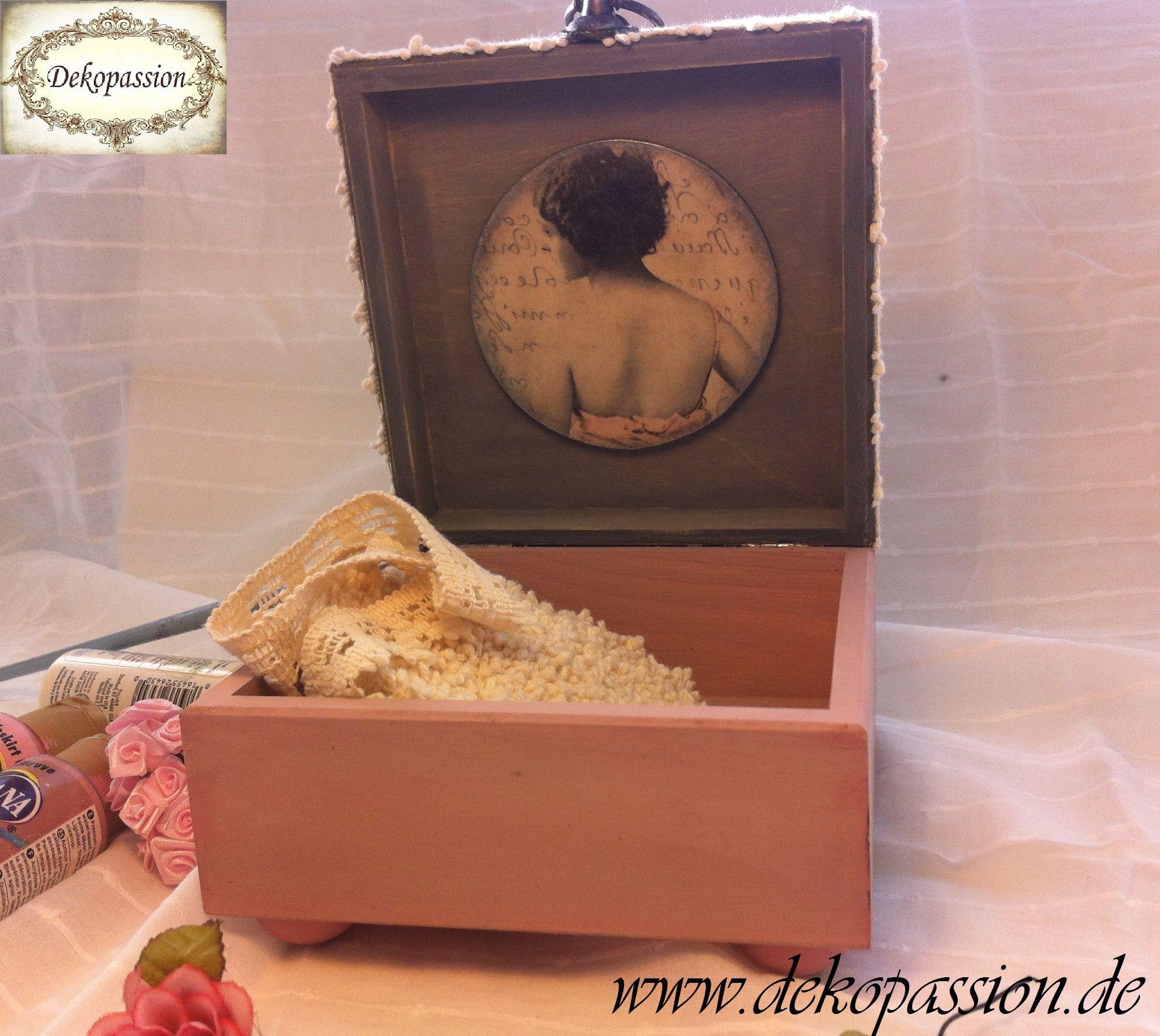 Decoupage Vintage Shabby Box