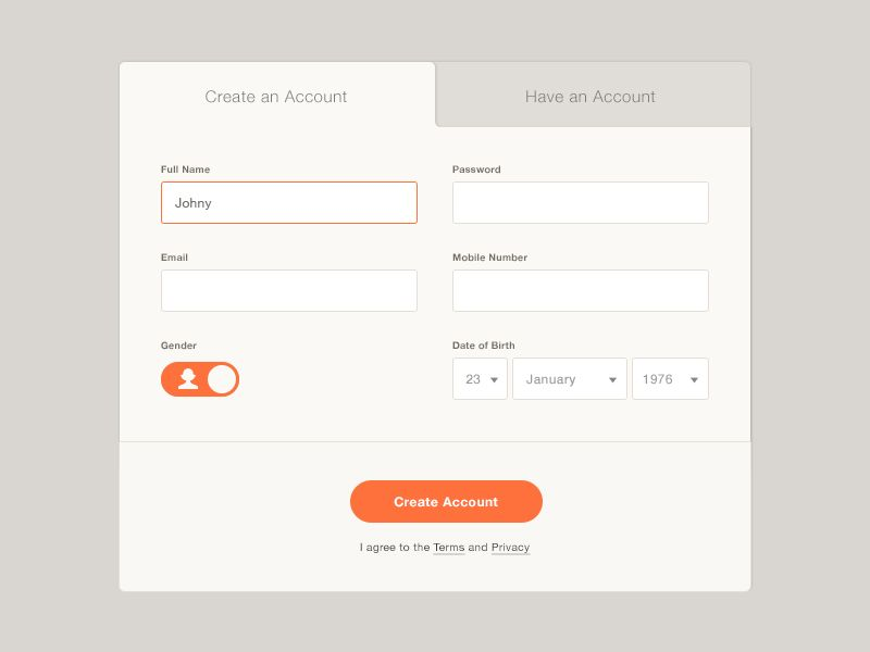 Registration Form  Registration Form User Interface And Ui Design