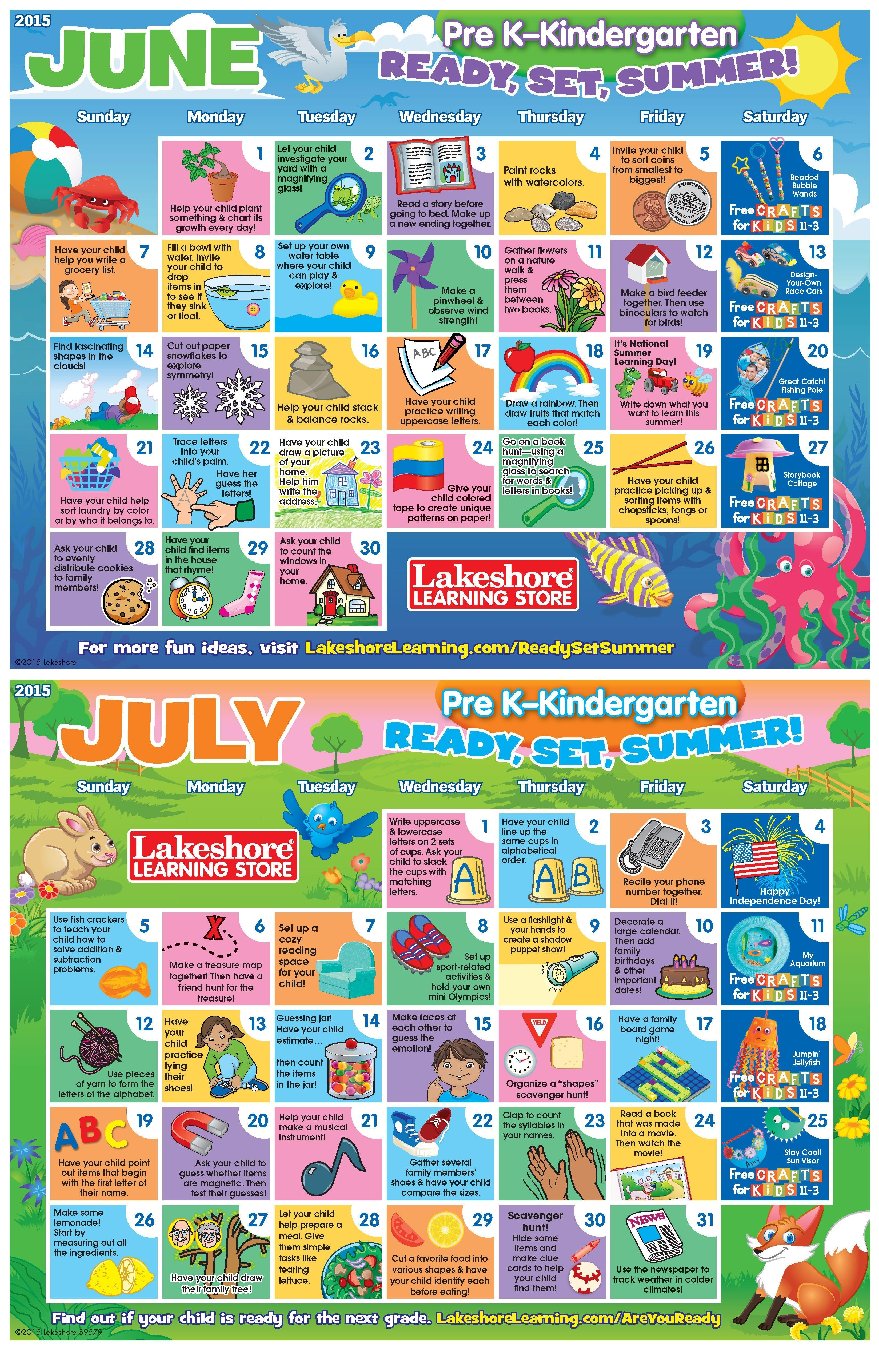 Download Now For Two Months Of Summer Activity Ideas For Pre K