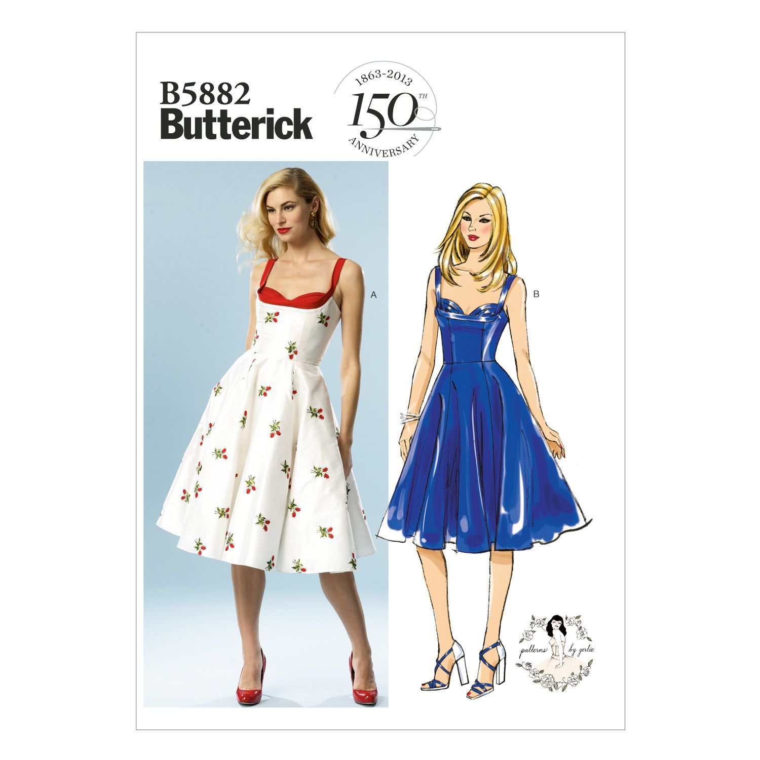 Butterick Ladies Easy Sewing Pattern 6129 Vintage Style Dresses