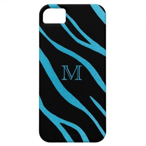 #Blue #Monogram: #Zebra #iPhone #5 #Case