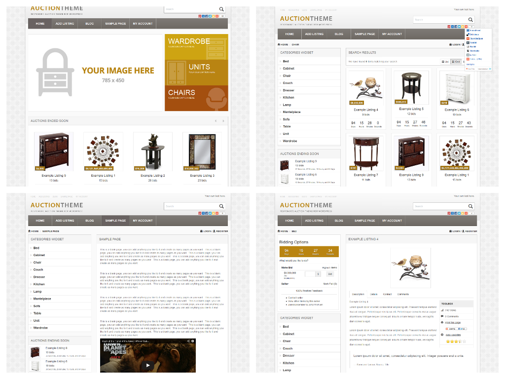 auction website template overview of the best auction theme watch
