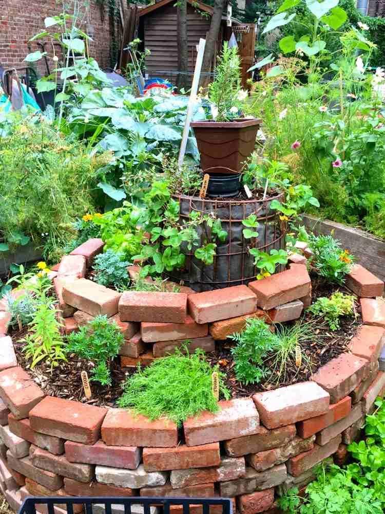 Aménagement jardin: créez votre spirale d\'herbes aromatiques ...