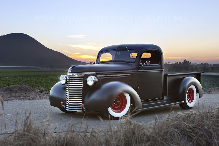 1939 Chevy- Flat black with white walls. Very clean. I\'ve always ...