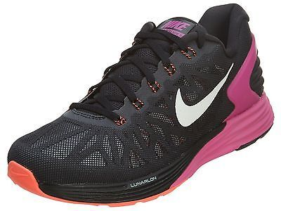 sports shoes b76af b727c Nike LunarGlide 6 Womens 654434-016 Black Fuchsia Lava ...