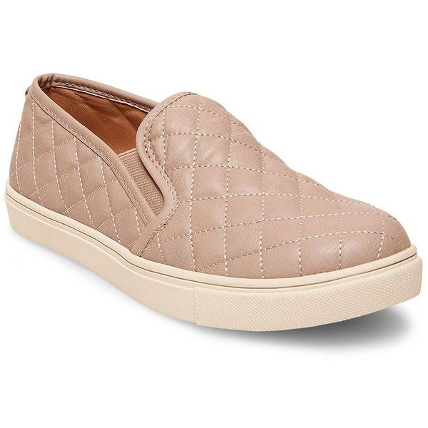 Steve Madden EcentrcQ Quilted Faux Leather Slip-Ons ($69) ❤ liked on  Polyvore