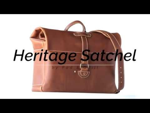 78cd4f2bc7aa The Heritage Leather Mens Satchel Bag by Pad  amp  Quill is the king of  waterproof